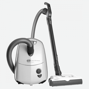 SEBO E3 Premium canister vacuum with a 12″ power head